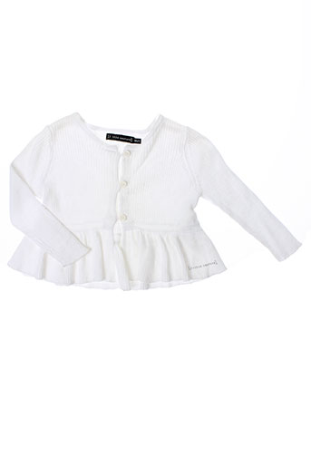 little couture gilets fille de couleur blanc