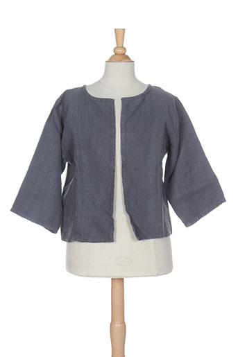 le vestiaire de jeanne vestes fille de couleur gris