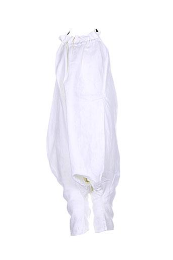 le vestiaire de jeanne combinaisons fille de couleur blanc