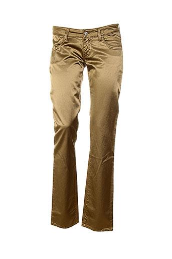 met in jeans pantalons femme de couleur marron