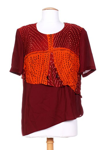 altina chemises femme de couleur rouge