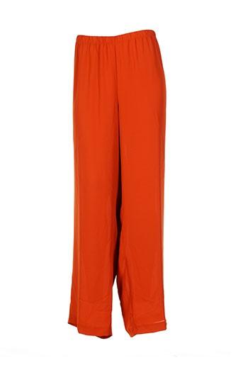 altina pantalons femme de couleur orange