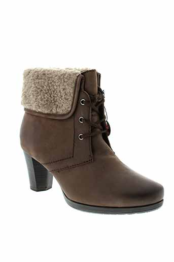 jana boots femme de couleur marron