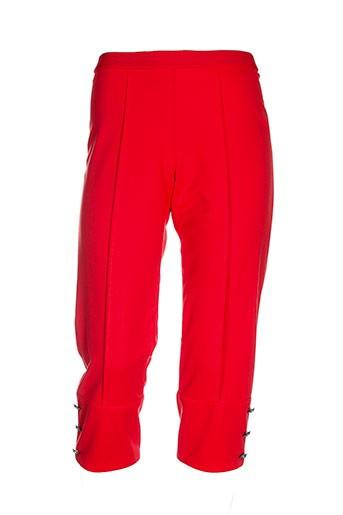 karting pantacourts femme de couleur rouge