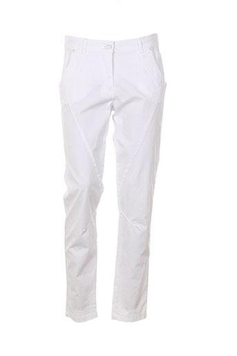 bianca pantalons femme de couleur blanc