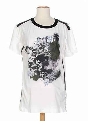 T-shirt manches courtes beige COSTUME NEMUTSO pour femme