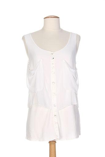 messcalino chemises femme de couleur blanc