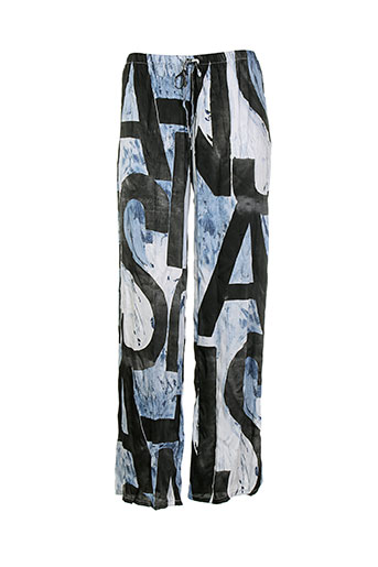 messcalino pantalons femme de couleur bleu