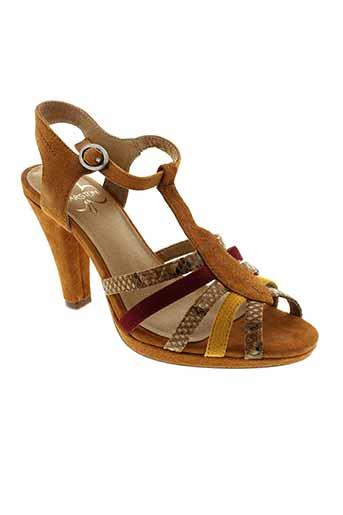 karston sandales et nu et pieds femme de couleur marron