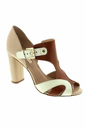 jorge bischoff chaussures femme de couleur beige