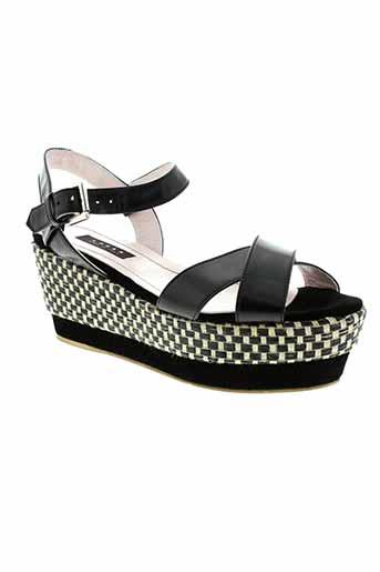logan chaussures femme de couleur noir