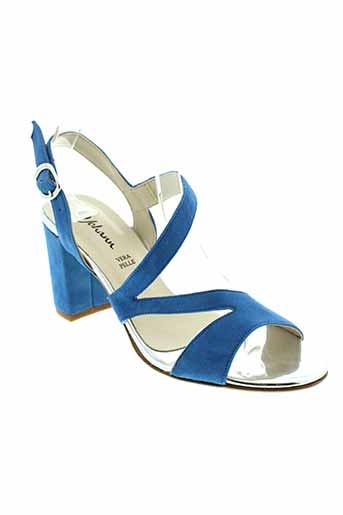 johann sandales et nu et pieds femme de couleur bleu