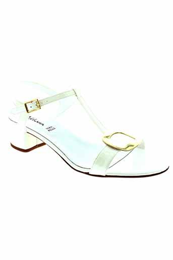 johann sandales et nu et pieds femme de couleur blanc