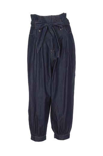 village pantalons et decontractes femme de couleur bleu