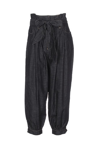 village pantalons et decontractes femme de couleur noir
