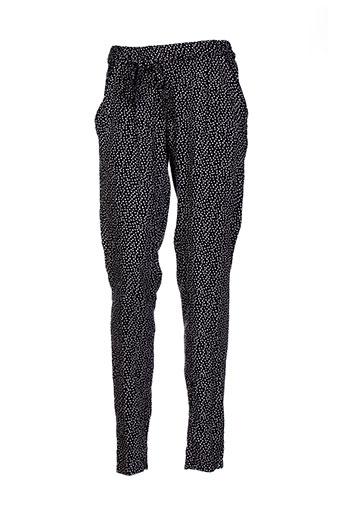 coton du monde pantalons femme de couleur noir