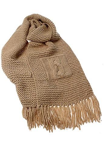 noa et noa echarpes et gants femme de couleur beige