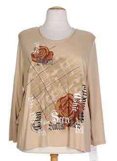 T-shirt manches longues beige DONNA BELLA pour femme