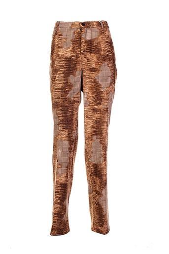 giorgia netti pantalons femme de couleur marron