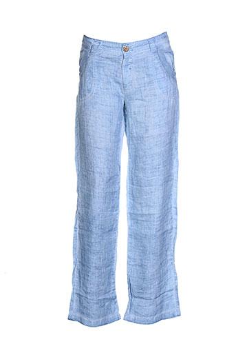 onado pantalons et decontractes femme de couleur bleu