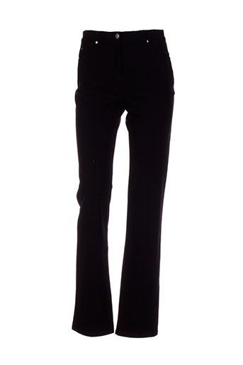 jensen pantalons femme de couleur noir