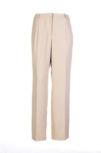 lola pantalons femme de couleur beige