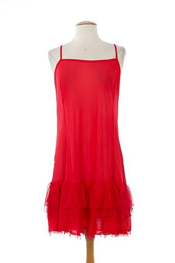 l33 jupons et fonds et de et robe femme de couleur rouge