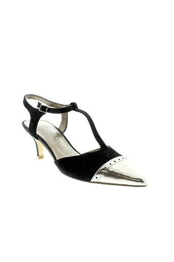 madison sandales et nu et pieds femme de couleur noir