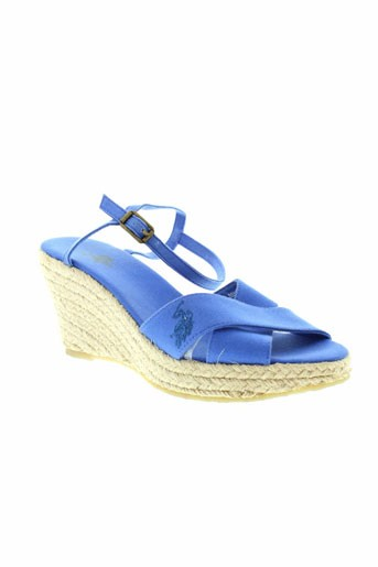 u et s et polo et assn sandales et nu et pieds femme de couleur bleu