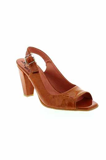 wonders chaussures femme de couleur orange