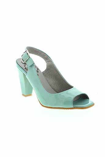 wonders sandales et nu et pieds femme de couleur bleu
