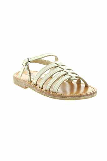 gbb sandales et nu et pieds fille de couleur beige