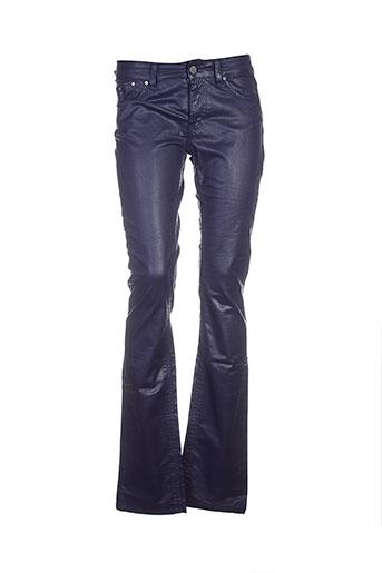 corleone pantalons et decontractes femme de couleur bleu