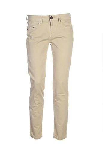 five pantalons femme de couleur beige