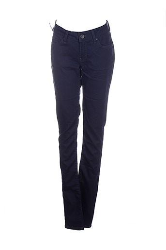 corleone pantalons femme de couleur bleu