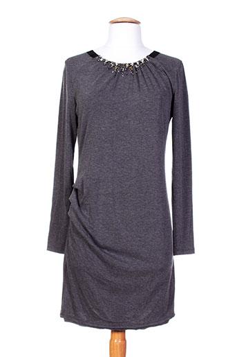 Robe mi-longue gris AMBRE BABZOE pour femme
