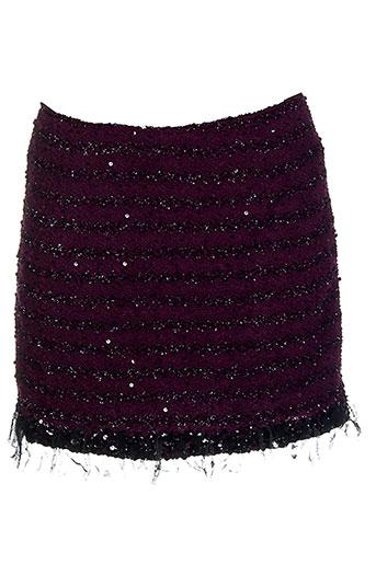 Jupe courte violet AMBRE BABZOE pour femme