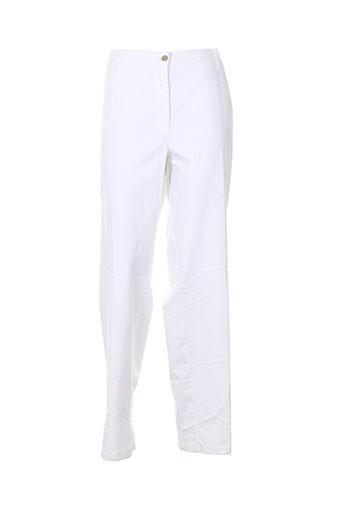 kjbrand pantalons et decontractes femme de couleur blanc