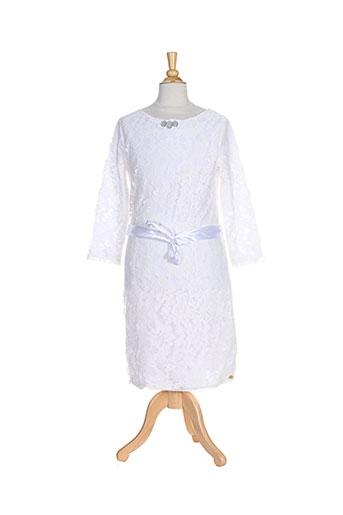 baker bridge robes fille de couleur blanc