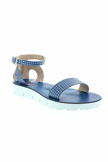 eder sandales et nu et pieds femme de couleur bleu