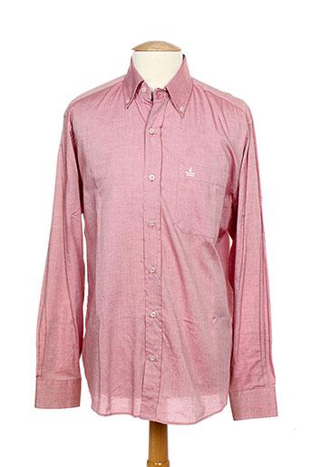 navigare chemises homme de couleur rouge