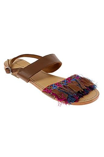 ambre babzoe chaussures femme de couleur marron