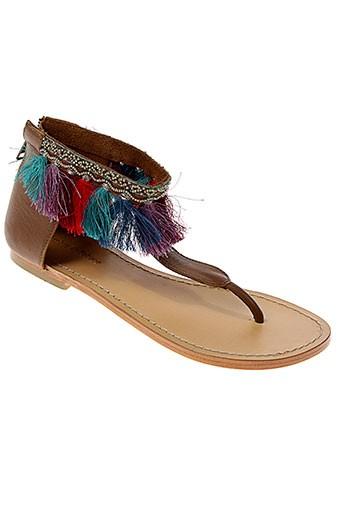 ambre et babzoe sandales et nu et pieds femme de couleur marron