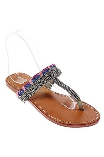 ambre babzoe chaussures femme de couleur gris