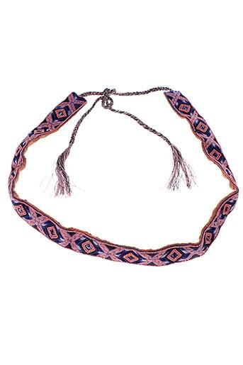 ambre et babzoe ceintures femme de couleur rose