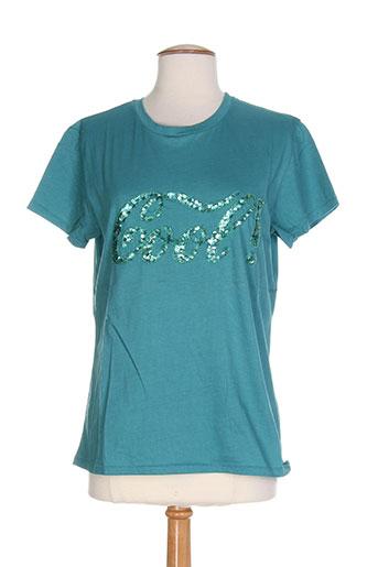 ankorel t-shirts femme de couleur vert