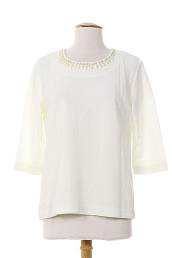 ankorel chemises femme de couleur blanc