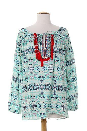 ambre babzoe chemises femme de couleur bleu