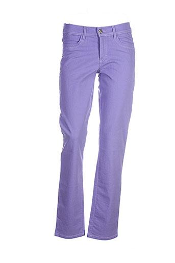 cmk pantalons femme de couleur violet