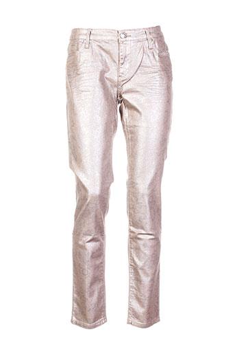 bisou d'eve pantalons femme de couleur beige